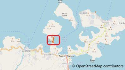 プエルトガレラのポケテビーチ地図