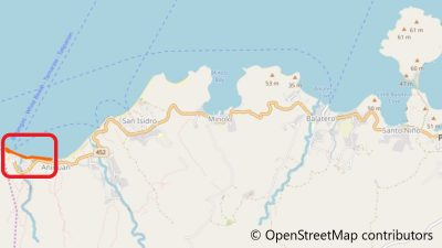 プエルトガレラのタリパナンビーチ地図