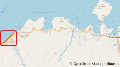 プエルトガレラのアニヌアンビーチ地図