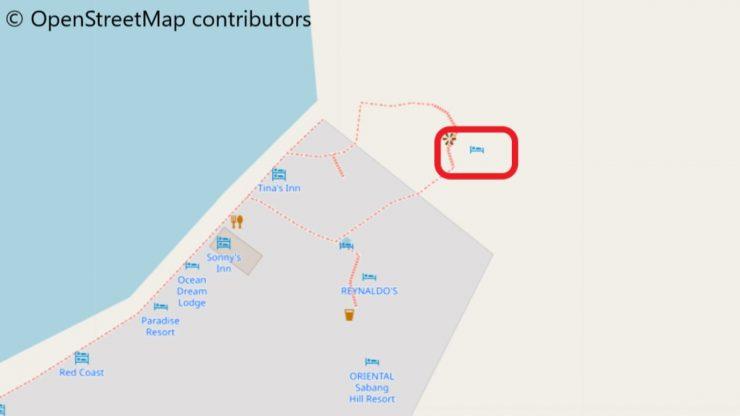 グレースホテルの行き方の地図