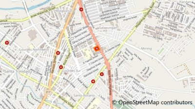 Angeles University Foundation Medical Centerの地図