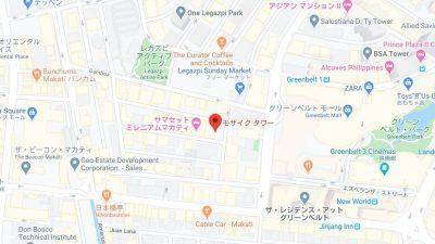 デラ・クルーズイングリッシュクラブの宿泊先地図