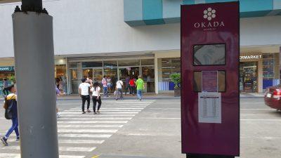 オカダマニラへのシャトルバス乗り場
