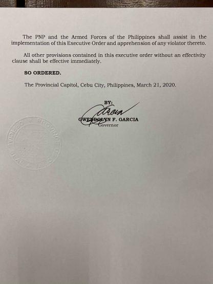 フィリピン共和国セブ州知事局  行政命令第5-K