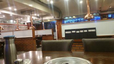 アンヘレスのバリバゴホテルの韓国料理店内