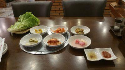 アンヘレスのバリバゴホテルの韓国料理店付け出し
