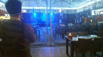 アンヘレスのバリバゴホテルの韓国料理店奥のステージ