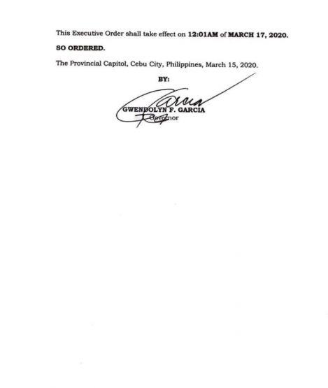 フィリピン共和国セブ州知事局  行政命令第5-J