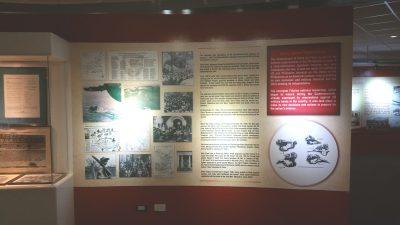 戦時中の説明展示