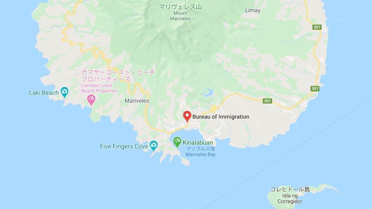 マリベレス移民局ワンストップショップの地図
