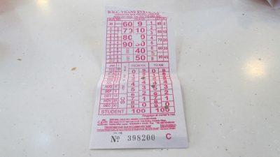 BBL transのチケット