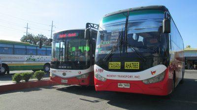 WORTHY TRANSPORTのバス