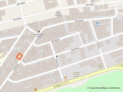 127 dorm and apartelle地図