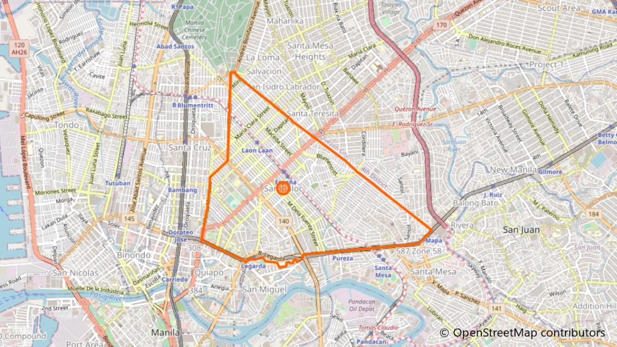 サンパロックの地図