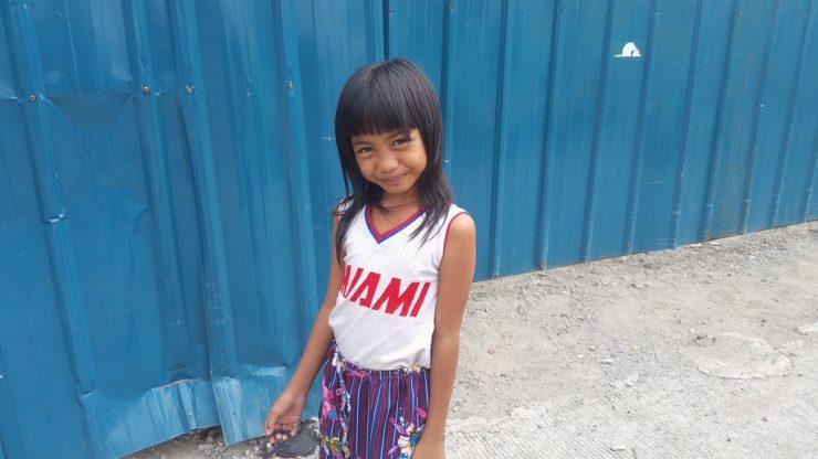 素朴なフィリピンの少女