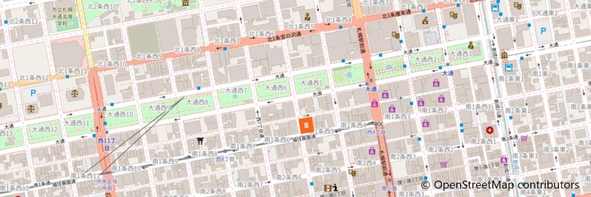 札幌留学ステーションの地図