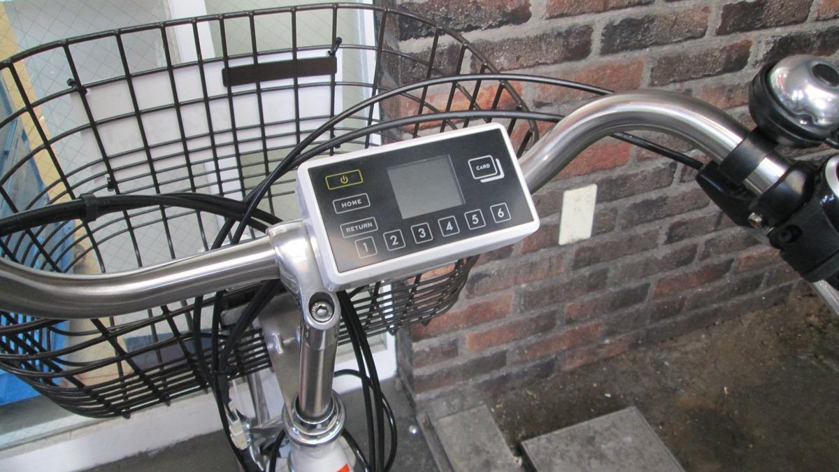 シェア自転車の液晶パネル