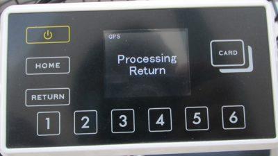 返却中の画面