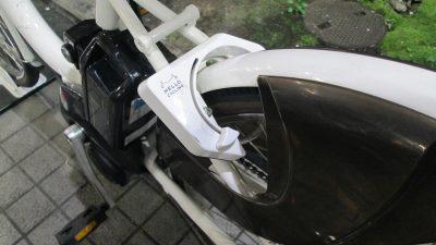シェア自転車の鍵の場所