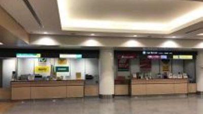 成田空港第1ターミナルのレンタカー受付