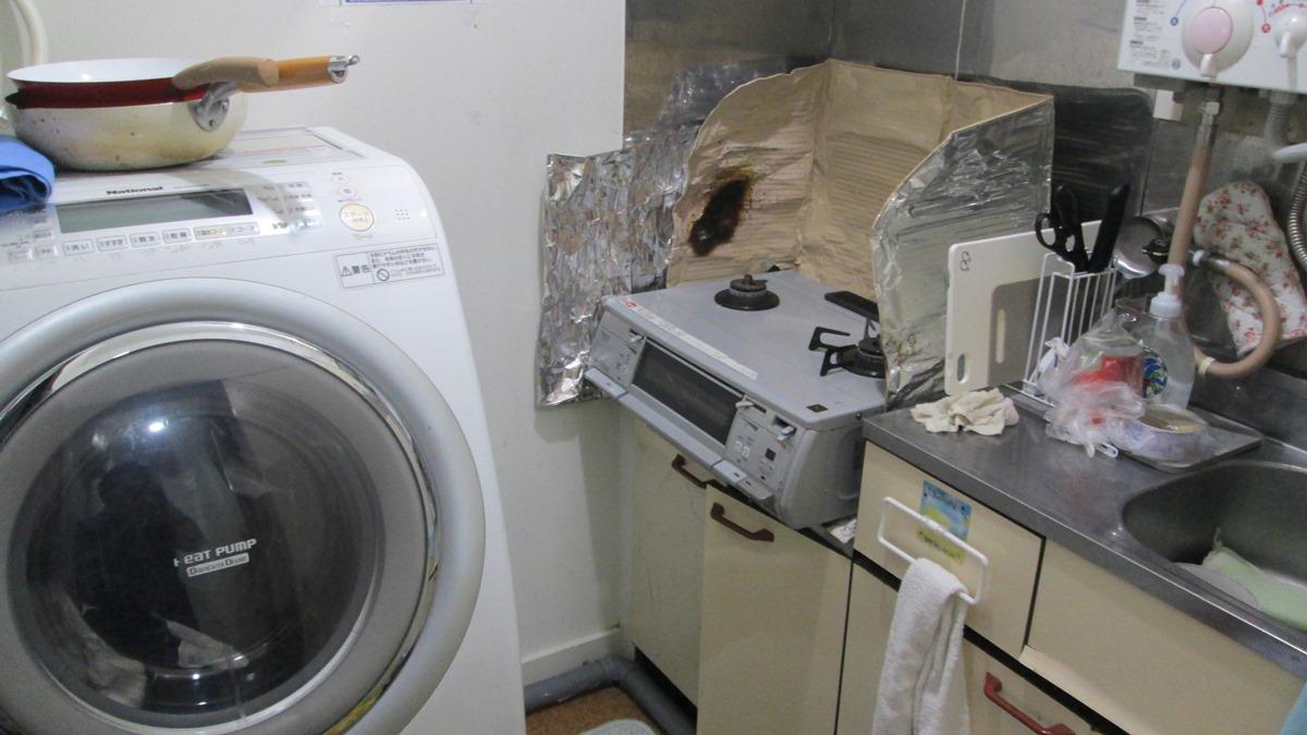 キッチンと洗濯機