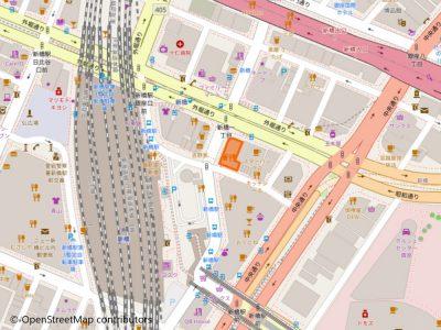 新橋店地図