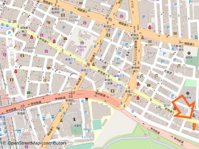 新宿御苑店地図