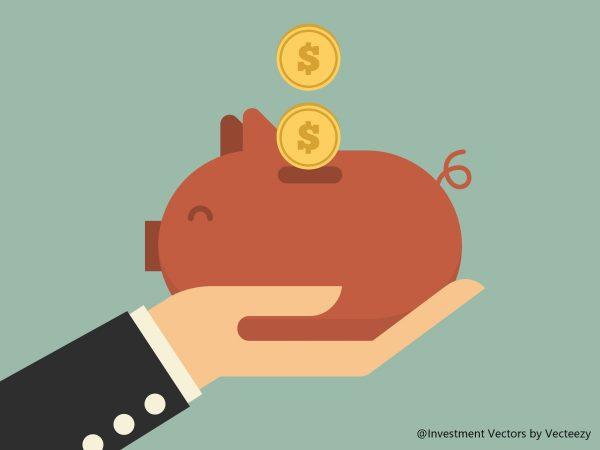 豚の貯金箱に貯金