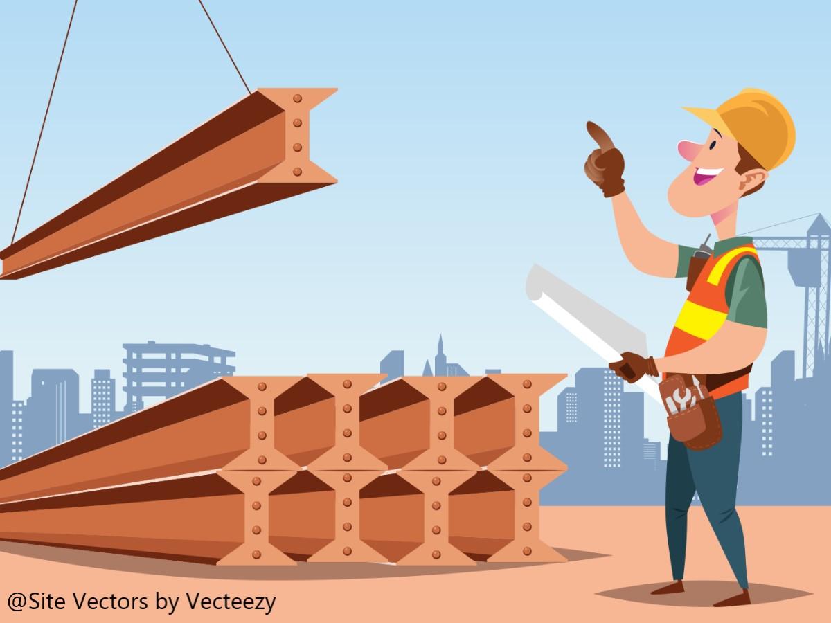建設現場で働く人