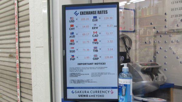 SAKURA EXCHANGEの為替レート