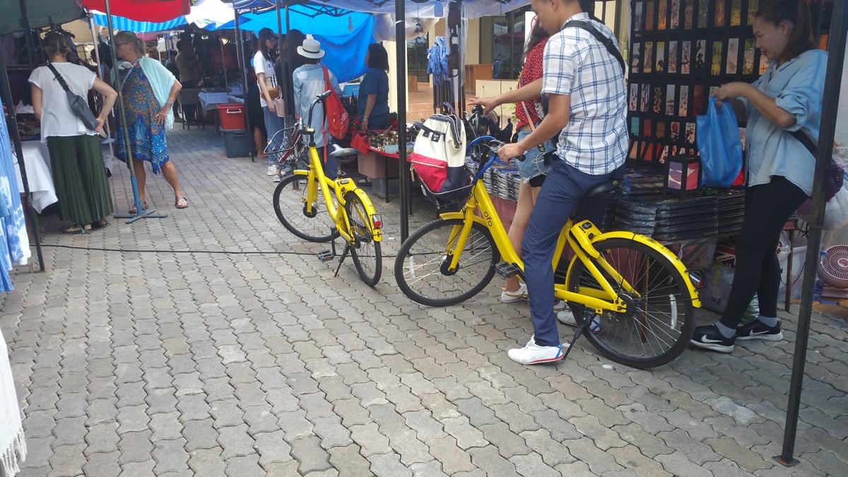 チェンマイのモバイク自転車