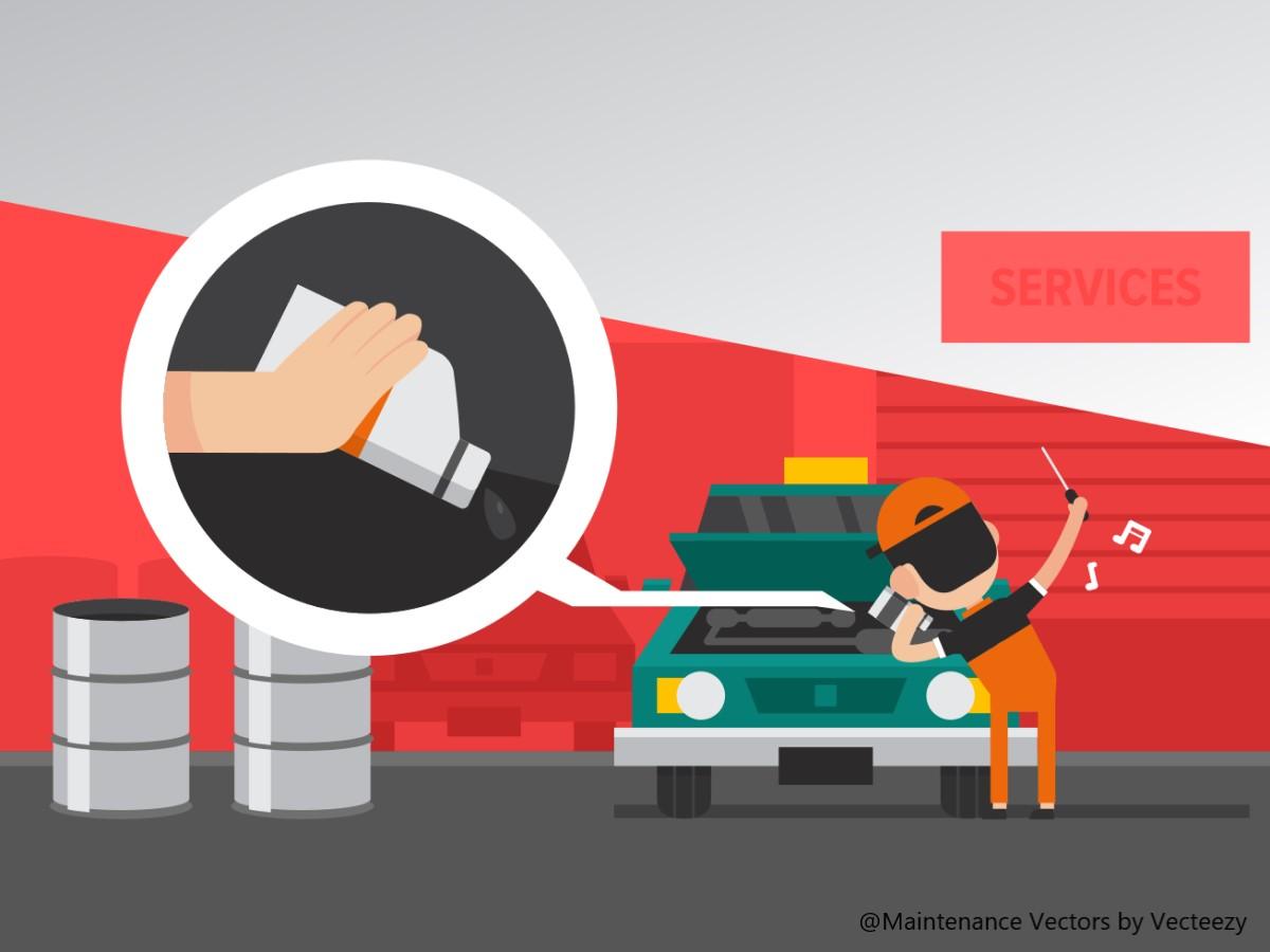自動車を整備する人