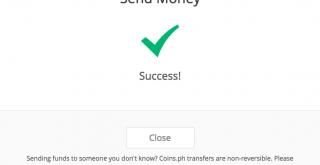 仮想通貨送金完了画面