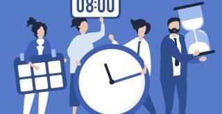目覚まし時計と時間と砂時計